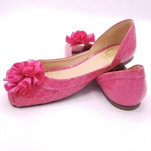Lilly Pulitzer Pink Flats Flower Lady Mary Shoes 7